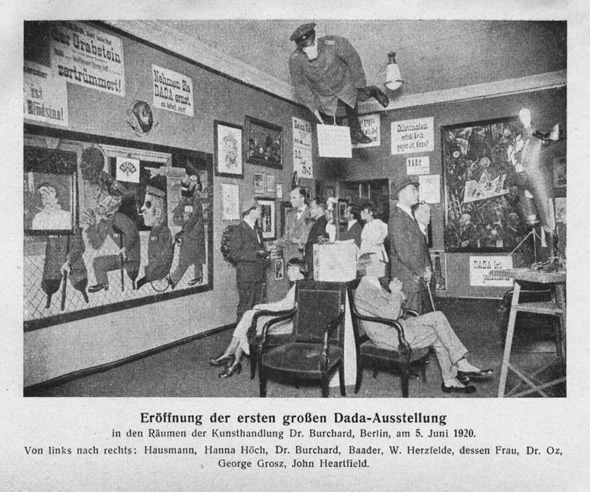 Grand opening of the first Dada exhibition, Berlin, 5 June 1920.