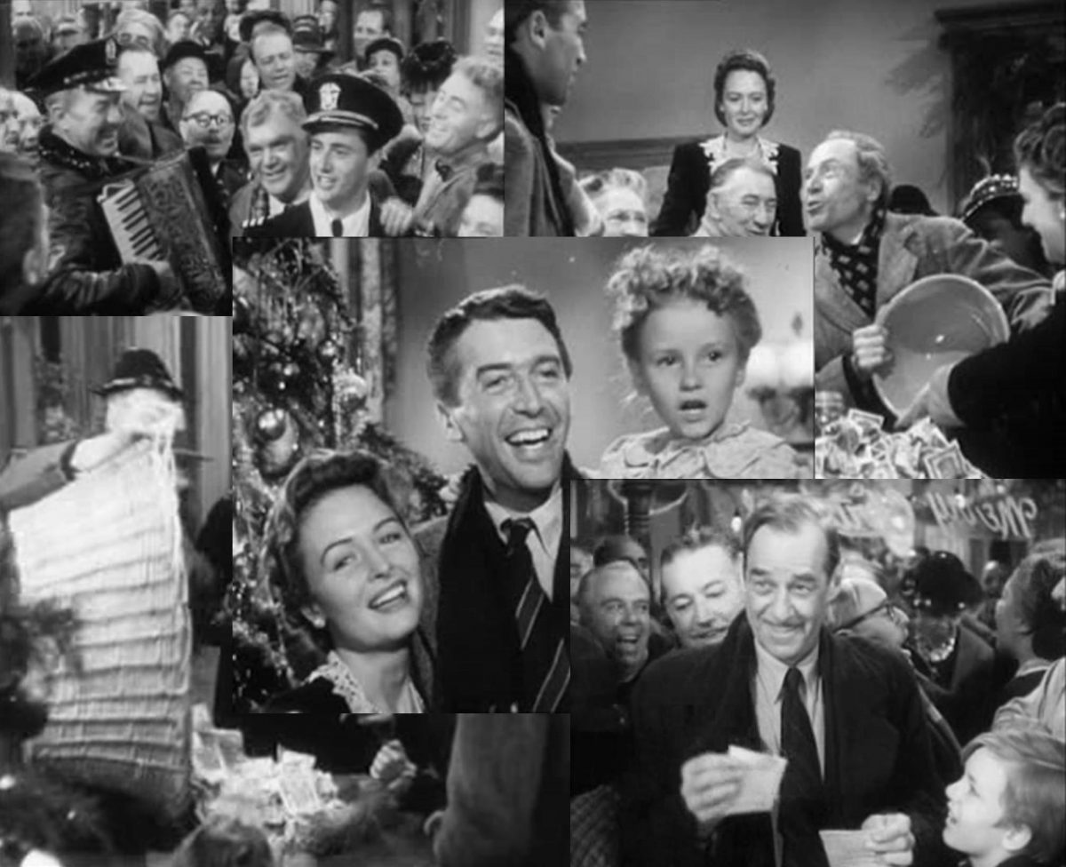 It's A Wonderful Life - final scene collage.
