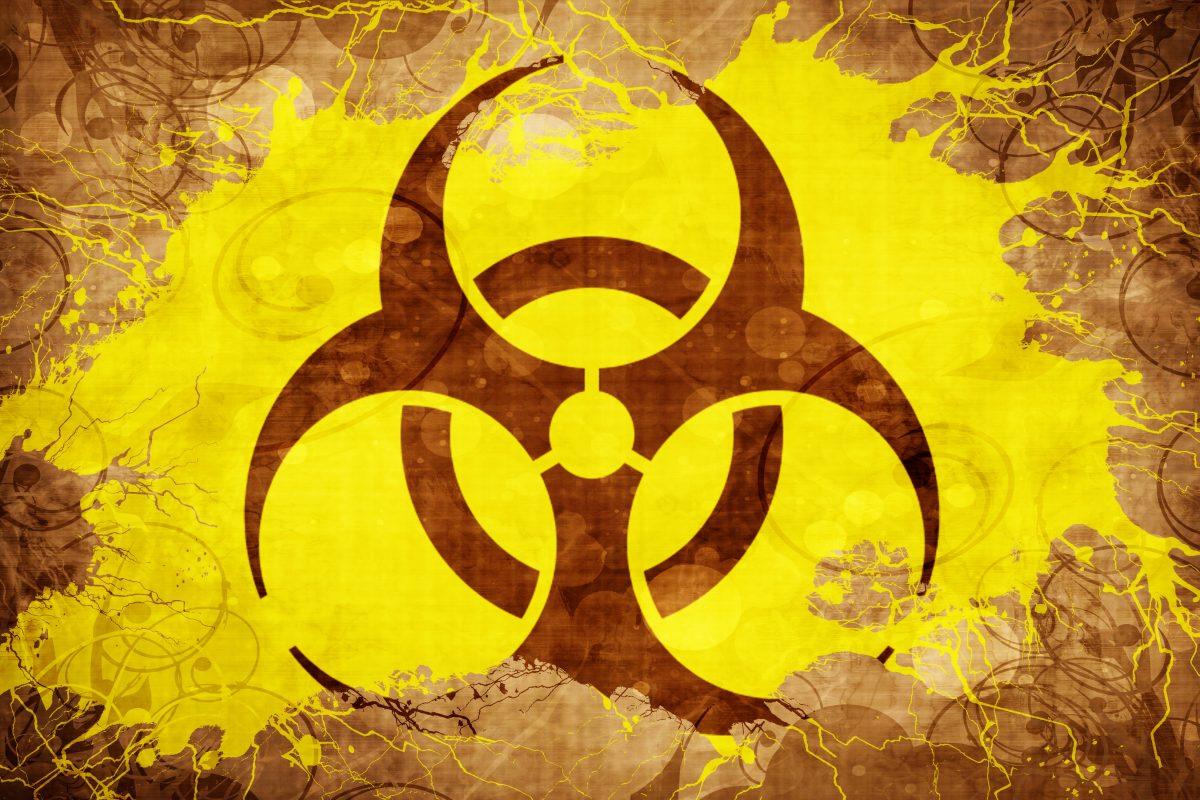 Grunge Biohazard sign